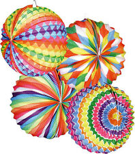 12 Lampions Ballon 22 cm Bariole ballon multicolore lanterne 14 juillet defile