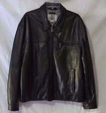 CITY STREETS Genuine Lambskin Jacket XL Black Zip-Front Soft Leather Coat Lined