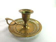 Vintage Small Candle Stick Holder Brass w/ Handle 2' Inches Tall
