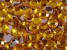 Acrylic Sew-on Gems 30pcs Round 18mm Yellow JEWEL Rhinestone Postage