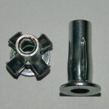 10 Spreiz - Blindnietmuttern M8 Stahl verzinkt mit Flachkopf Spreizmutter