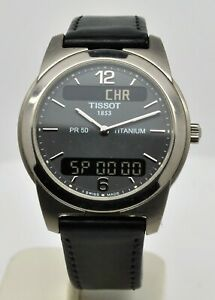 Tissot PR50 Titanium ref:J390/490 Digital and analogue quartz gents watch
