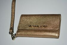 Michael Kors Gold Leather Wristlet Wallet iPhone Case iPhone 4/4S