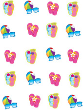 Flip Flop And BeachBall Waterslide Nail Decals