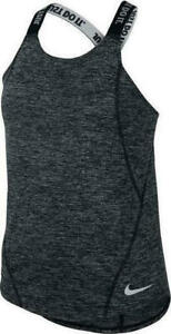 Nike Dry Big Girls' Dri-FIT Black/Grey Training Tank Top (AH3955-010) Size L