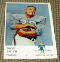 1961 Fleer Football Card # 170 Dave Smith-Houston Oilers