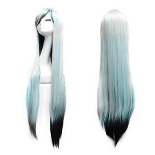 100cm Long Straight Wig Fashion Cosplay Costume Anime Hair Full Wig Muti-color