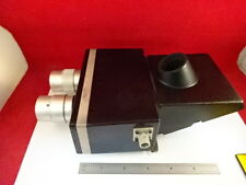 MICROSCOPE PART BAUSCH LOMB TRINOCULAR HEAD OPTICS [dirty] AS IS #21-A-04