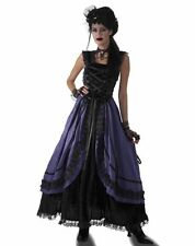 Gothic Couture Purple Poison Dress Adult Costume Victorian Vampire Standard Size