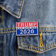 Trump 2020 Republican Campaign Political Brooch Metal Pin Coat Jackets Lapel Pin