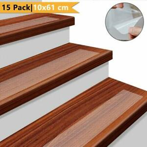 Stair Treads Non-Slip Strips for Indoors Clear Safety Anti Slip Step Grip Tape
