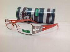 BENETTON occhiale da vista junior mod 084 largo 11,7cm metallo argento arancione