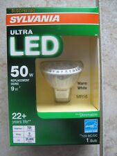 SYLVANIA Ultra LED Light Bulb dimmable 9W Replacing 50W Halogen MR16 LED GU5.3