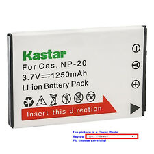Kastar Replacement Battery for Casio NP-20 BC-11L & Casio Exilim EX-M20 EX-S1