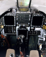 F-18 JET COCKPIT AND INSTRUMENT PANEL 8X10 PHOTO NASA