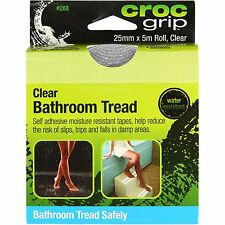 Croc Grip BATHROOM TREAD SAFETY TAPE ROLL 25mmx5m Self Adhesive CLEAR*Aust Brand