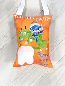 Tooth Fairy Pillow Pocket Knight Dragon Lost Tooth Birthday Gift