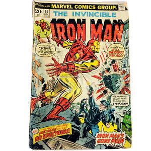 Marvel Comics Group THE INVINCIBLE IRON MAN # 65 RARE year 1973