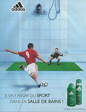 Publicité Advertising 2001  ADIDAS  gel douche et déodorant