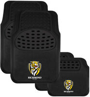 AFL Car Floor Mats - Richmond Tigers - Set Of 4 - Universal Size Fit