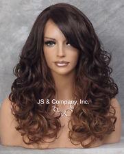 Lace Front Wig Long HEAT SAFE w. Bangs Blonde Mix Wavy SDBW OM23033