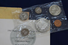 1967 Panama 6 Coin Proof Set with 1/2 & 1 Silver Balboas Original Package E2163