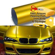 "96"" x 60"" Satin Matte Chrome Metallic Gold Vinyl Film Wrap Sticker Bubble Free"