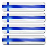 Autocollants 3D Finlande Drapeau Finlandais Finland Flag Stickers Finnish Decals