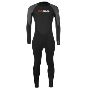 GUL Mens Contour Full Wetsuit Black/Grey/Red NEW OTHER