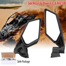 Racing Side Mirrors Set For Can-Am Maverick X3 UTV Off-road 2018 2017 715002898