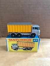 Vintage Lesney Matchbox DAF Tipper Container Truck ~ #47