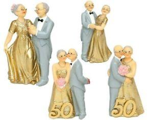 Goldene Hochzeit Tortenfigur 50 Jahre Brautpaar Hochzeitspaar Figur Tortendeko