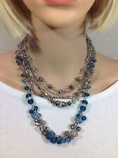 White House Black Market Magnetic Beaded Royal Blue necklace