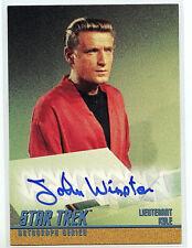 Star Trek John Winston A63 Mint Autographed Card 1998 TOS S3 Lt Kyle Z3