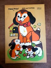 Fisher-Price No. 5111 Dog and Puppies 8 Piece Wooden Jig Saw Puzzle