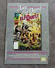 ELFQUEST #1 Comic 1985 Wendy Richard Pini PROMO WaRP Epic Marvel Poster G