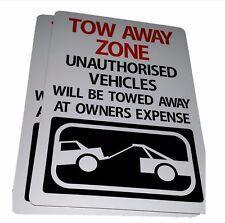 TOW AWAY ZONE NO PARKING sign Aluminium outdoor 315mm x 220mm