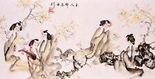 Beauty play music-ORIGINAL ASIAN ART CHINESE FAMOUS FIGURE WATERCOLOR PAINTING