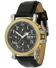 Scheffler & Söhne Uhren Automatikuhr Granada schwarz Herrenuhr mit Kronenschutz