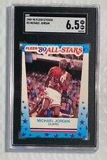 1989-90 Fleer All Star Sticker Michael Jordan #3 Chicago Bulls HOF SGC 6.5