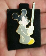 Disney Mickey Mouse Jedi Knight Enamel Pin Lightsaber Star Wars Pinback Rare New