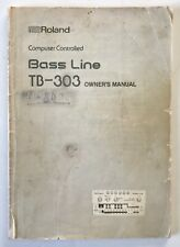 Roland TB-303 bass line synthesizer original operation owner's manual