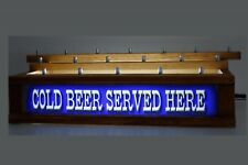 Lighted COLD BEER  SERVED HERE 18 BEER Tap handle display