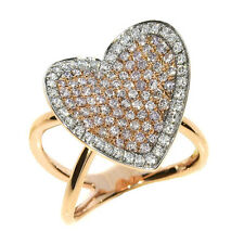 1.32ct Natural Fancy Pink Diamonds Engagement Ring 18K Solid Gold 7G Heart