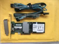 IBM M5015 LSI 9260-8i SAS RAID Controller PCI-E  8087 SATA Cable battery