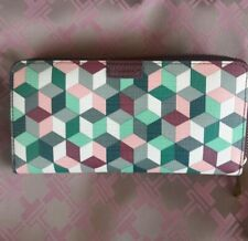 Fossil  Multi Colored Geometric Pattern Wallet / Clutch Excellent
