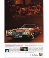1972 Cadillac Eldorado Red Automobile Car Vtg Print Ad