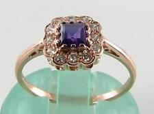 9 Carat Amethyst Rose Gold Art Deco Fine Jewellery