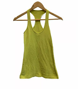 Lululemon Womens yellow racerback tank top  2? No size tag