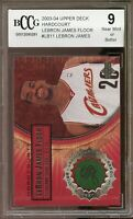 2003-04 Upper Deck Hardcourt #LB11 LeBron James Rookie Card BGS BCCG 9 Near Mint